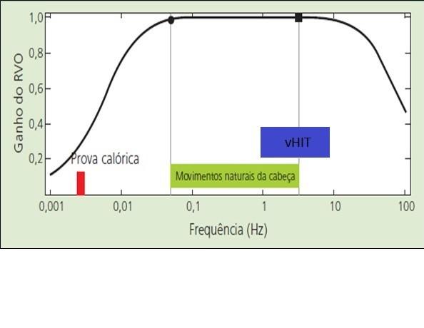 Figura 1: Avaliação de frequências da prova calórica e do vHIT